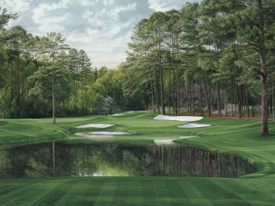 The 16th at Augusta National by Linda Hartough