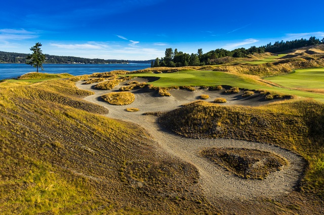Third hole, Chambers Bay (Copyright USGA/John Mummert)