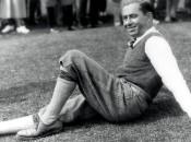 Walter Hagen resting his barking dogs