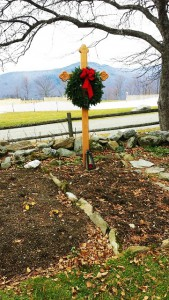 Maria von Trapp's grave behind the Trapp Family Lodge in Stowe, Vermont