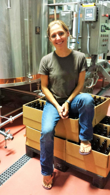 Vilija Bizinkauskas, lead brewer, Drop-In Brewing Company, Middlebury, Vermont