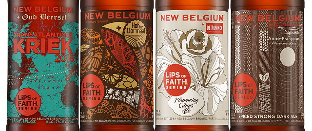 This year's Lips of Faith lineup for New Belgium, though the packaging for the current beer changed.