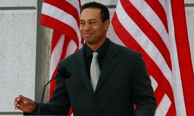 Tiger Woods at the Inauguration Concert, 2009