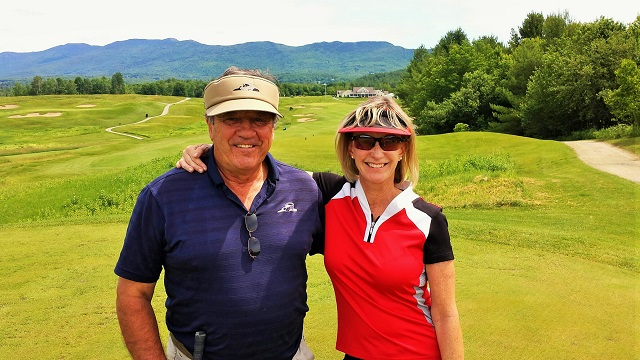 Chuck and Amy Baraw of the Stoweflake Mountain Resort at the Country Club of Vermont