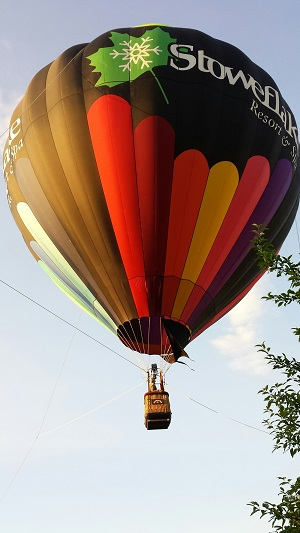 Up in the air with the Stoweflake Resort balloon