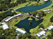Aerial view of the Stadium Course at TPC Sawgrass during The Player's Championship