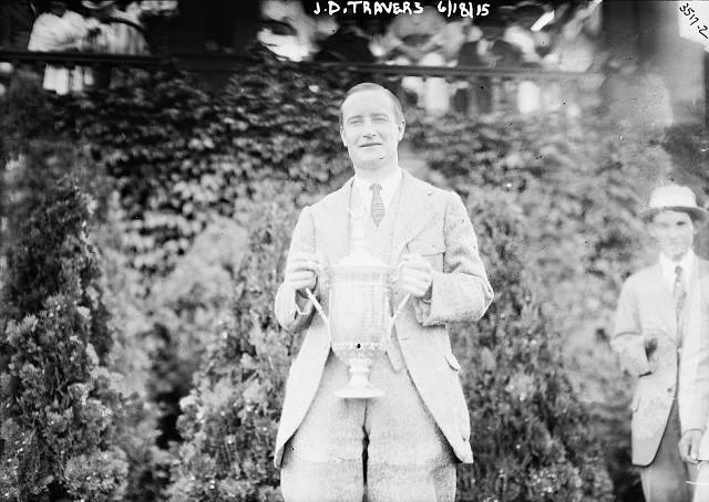 Jerome Travers at the 1915 U.S. Open / Bain News Service via Wikimedia Commons