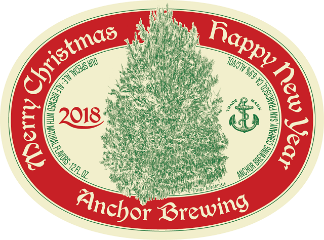 Anchor Christmas 2018 label