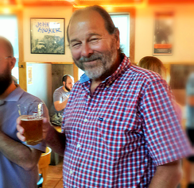 Gary Bogoff at a Berkshire Brewing Tap Takeover Wildwood Barbeque