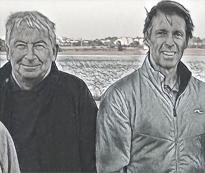 Allan Bond (left) and author Luke Reese