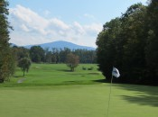 The uphill, dogleg left 7th hole exemplifies The Sagamore's rugged topography. Photos: Tom Harack