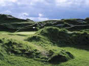 The 11th green at The Irish Course, Whistling Straits, The American Club, in Kohler, Wisconsin.