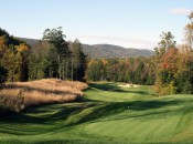 View from the tee at the ninth hole at Golf Club at River Oaks. Photo by Mark Eucalitto