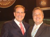 Michael Patrick Shiels with Jim Nantz at NCAA Final Four