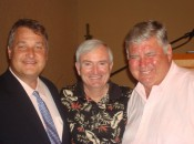 Michael Patrick Shiels with Crystal Mountain President Jim MacInnes and golf broadcasting legend Ben Wright.