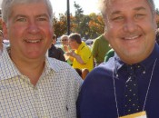 Michael Patrick Shels with Gov. Rick Snyder