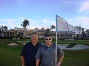 Michael Patrick Shiels and travel writer Larry Olmsted after a round on Doral's famed Blue Monster course.