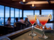 The Beacon Lounge at Traverse City's Park Place Hotel offers panoramic views in a sophisticated piano bar setting.