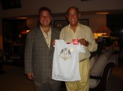 Oscar de la Renta with Michael Patrick Shiels at Punta Cana Resort.