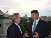 Michael Patrick Shiels with Tim McGuire in front of the Capitol Rotunda.