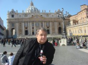 Vendors at the Vatican are in and around St. Peter's Square offering souvenirs and refreshments.