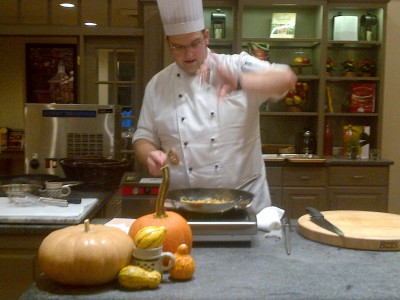 Travis Brust, a world champion chef, has a passion for pumpkins at Williamsburg