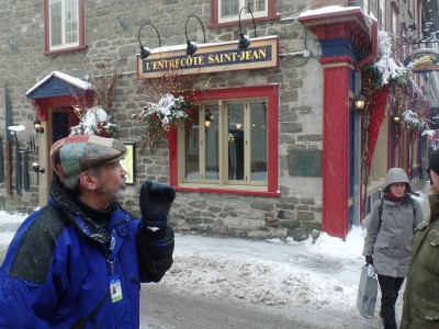 Francois Vidal guides food and wine tasting tours through Old Quebec's charming, upper, walled city.