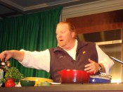 Chef Mario Batali presents a cooking exhibition at the Aspen Food and Wine Festival  (Photo Credit: Michael Patrick Shiels)