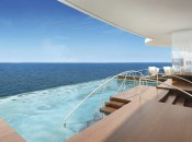 PHOTO: Regent's Seven Seas Explorer's infinity pool will look over destinations of historical and political intrigue   (Courtesy Regent Cruises)