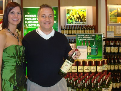 Irish brands reach out to visitors, such as a Jameson presentation encountered at Chicago's O'Hare Airport