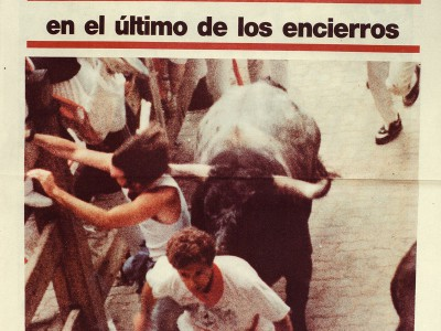 Lansing's Gary Shrewsbury made front page news when Running With The Bulls in 1991