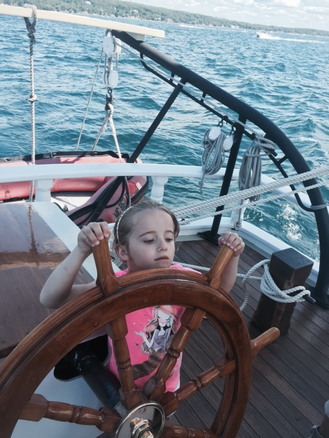 Kids can help the captain and crew aboard Traverse City's tall ship Manitou