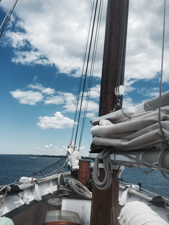 "Set sail aboard Traverse City's tall ship ""Manitou"" in the east bay and beyond"