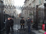 Photo Attached: Security outside #10 Downing Street in London, home to Britain's Prime Minister (photo by Michael Patrick Shiels)