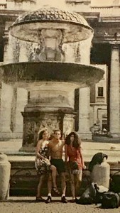 Amy and pals in Piazza San Pietro at the Vatican during a foreign study trip