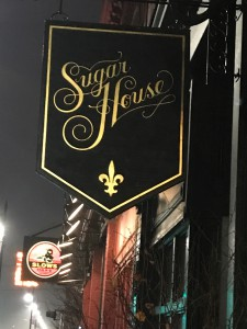 The Sugar House is an artisanal craft cocktail bar which serves single barrel bourbons and batch booze with fresh-squeezed juices, house-made syrups and liquors, fresh basil and mint, and even specialized ice.