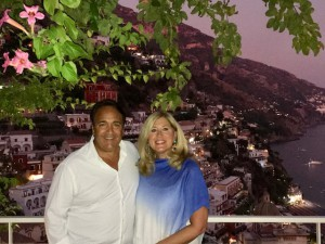 Stephen and Mary Jo Scofes during a recent visit to Italy's Amalfi Coast (Courtesy Stephen Scofes)