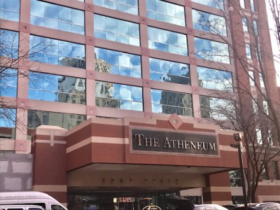 The Atheneum hotel in Downtown Detroit.