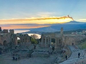 My sunset at treat at the Ancient Greek theater next to the Belmond Grand Timeo. (Photo by Michael Patrick Shiels)