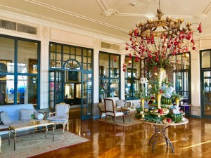 A section of Grand Timeo's elegant lobby. (Photo by Michael Patrick Shiels)