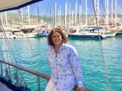 Karen Federko Sefer, born in Lansing, Michigan, on the Turkish Riviera. (Photo courtesy of Sea Song Tours)
