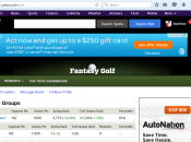Rosey Palms is our group name. Bahaha. This is the Fantasy Golf home page. No wonder the only valuable asset Yahoo! has is a Chinese search engine.
