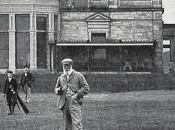 Old Tom Morris in front of the R&A Clubhouse