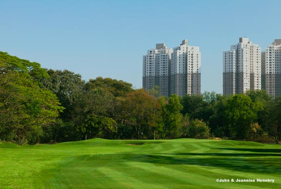 Fifth hole at Royal Calcutta taken bThe A Position contributors John and Jeannine Henebry