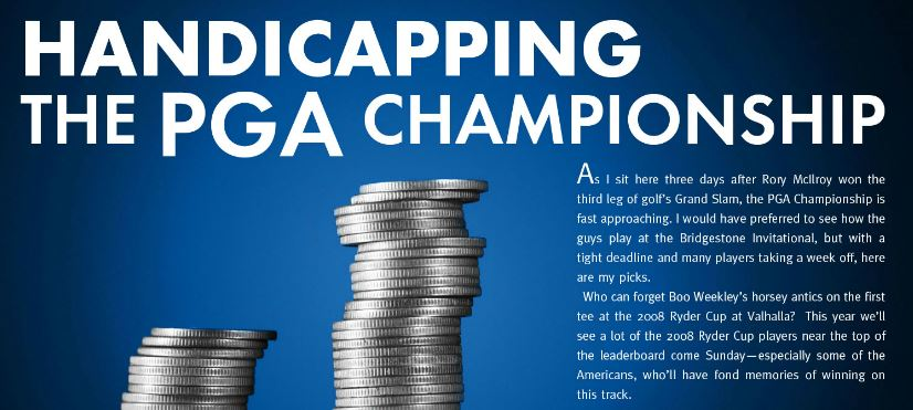 Handicapping 2014 PGA