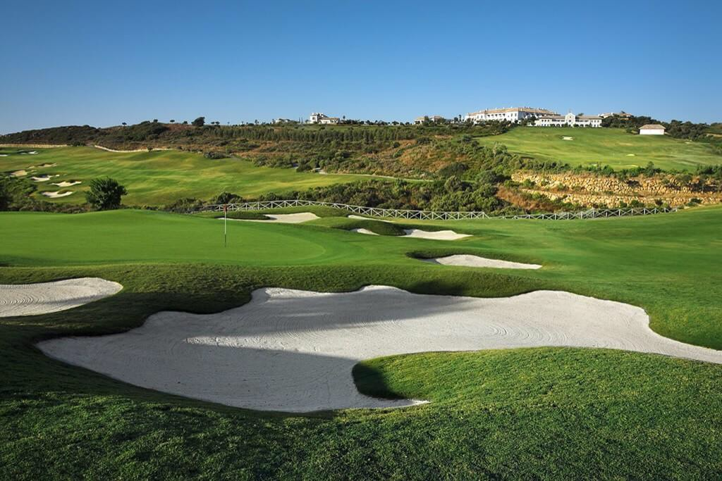 The Finca Cortesin Golf Club, Estepona, Spain, view from the 14th hole
