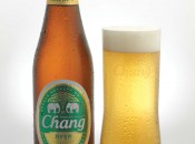 Chang bottle and glass