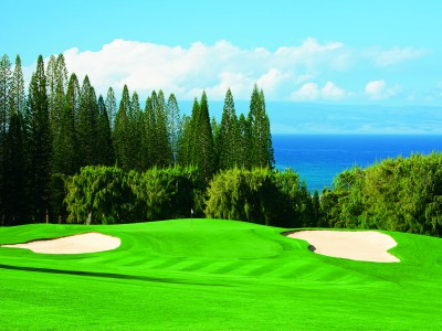 The ninth hole on the Bay Course, Kapalua