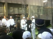Sergio Garcia, TaylorMade CEO Mark King, and Martin Kaymer at the TaylorMade White Out in NYC