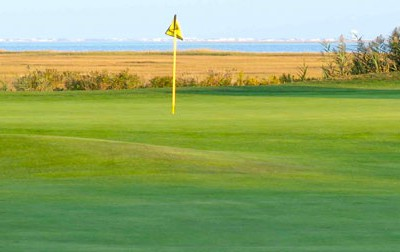 With the Atlantic City skyline in the background, Stockton Seaview's Bay Course is a popular LPGA stop.